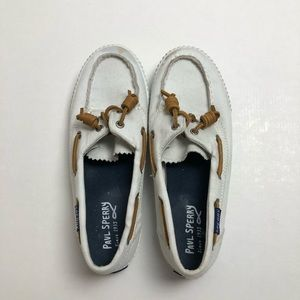 Sperry Paul Sperry White Sneakers Size 6.5